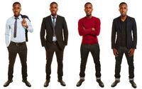 Varianten von Mann mit verschiedener Kleidung