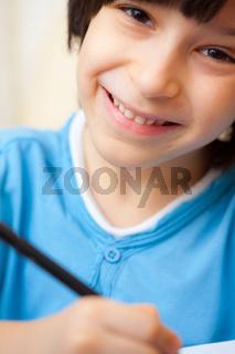 smiling schoole boy