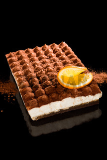 Delicious tiramisu dessert.