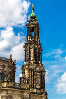 The Kreuzkirche church in Dresden