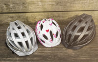 different bicycle helmets