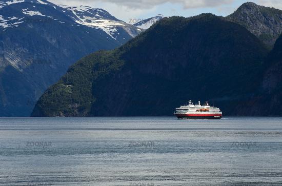 Hurtigruten ship Kong Harald in the Storfjord