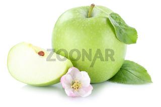 Apfel Frucht grün geschnitten Freisteller freigestellt isoliert
