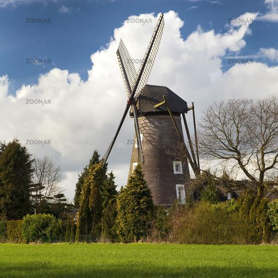 Dahlen mill, Issum, Lower rhine, North Rhine-Westphalia, Germany