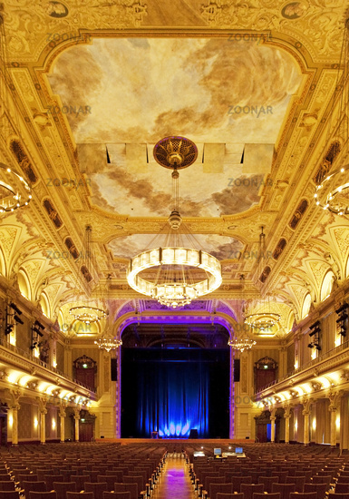 great hall, historic town hall, Wuppertal, Bergisches Land, North Rhine-Westphalia, Germany