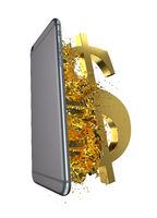 Golden USD. Path included. Perfect for advertising models. Save in days of sales.