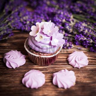 Lavender cakes