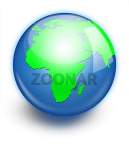 Earth planet globe icon.