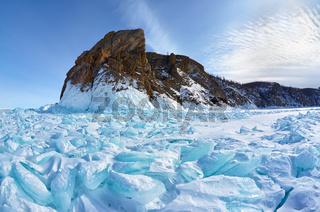 Hoboi cape on Baikal lake