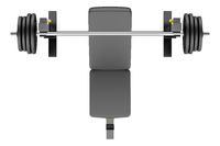 top view of gym adjustable weight bench