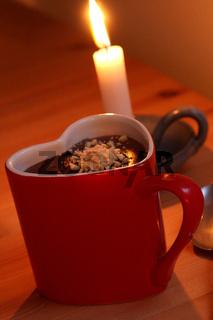 Schokoladenpudding zum Abendessen im Landhaus