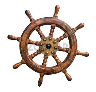 Isolated Ships Wheel