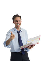 Businessman with folder in hand