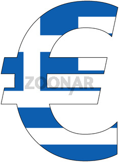 euro with flag of greece