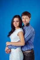 Married couple in studio