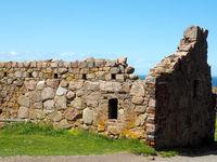 Part of Hammershus ruin on Bornholm island