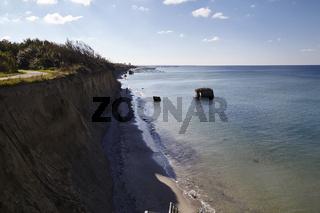 An der Steilküste Hohes Ufer zwischen Ahrenshoop und Wustrow auf der Halbinsel Fischland