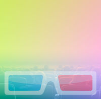 viewers watch 3D movie theater, RGB toning