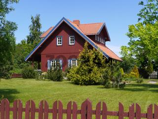 Holzhaus in Nida, Litauen