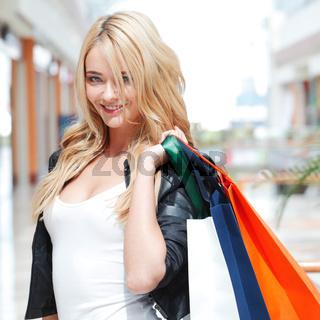 Fashion shopping woman