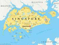 Singapore Political Map