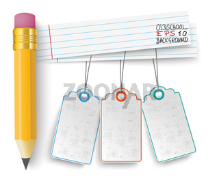 Pencil Striped Papers Price Stickers