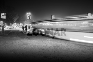 Piazzale Roma, Bus Station at night, Venice, Italy