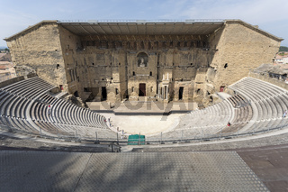 Das antike Theater in Orange, Frankreich