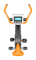 top view of stationary exercise bike isolated