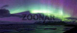 Northern Light Aurora borealis Jokulsarlon Glacier