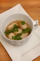 Soup With Sausage Meat Dumplings, Brätnockerlsuppe