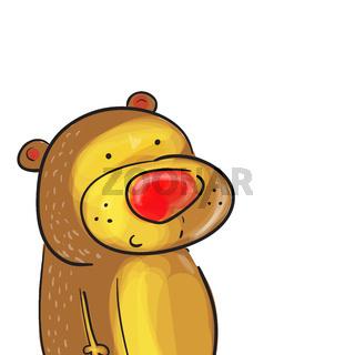 Illustration of cute bear card