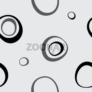 Vector seamless wallpaper. Circles on a gray