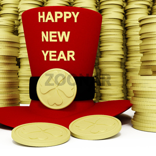 Cylinder with New Year wishes
