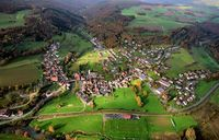 Aerial view of Gräfendorf at the Franconian Saale