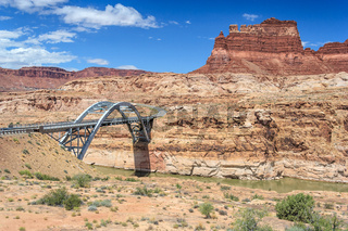 Hite Crossing Bridge across Colorado River in Glen Canyon National Recreation Area