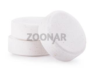 white pills isolated