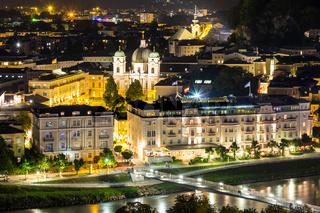Salzburg Austria Night