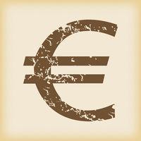 Grungy euro icon