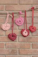 Valentine crochet decorations hearts