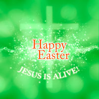 Happy Easter greeting card Jesus is alive