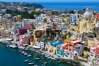procida island in italia