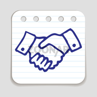 Doodle Shaking Hands icon.