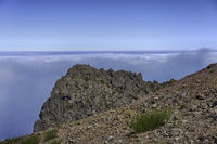 clouds and rocks at pico arieiro on madeira island