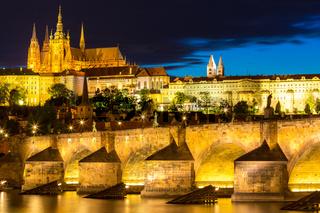 Pargue sunset Czech Republic.