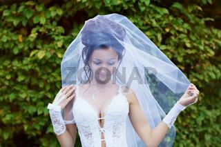 Happy bride in wedding day
