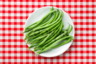 green beans on plate