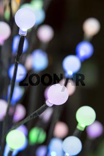 Bunte Glühbirnen