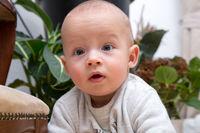 Portrait of a cheerful newborn