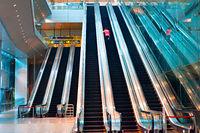 Changi airport interior, Singapore